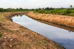 Canali di irrigazione Immagini Stock