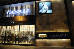 Canali Fashion Boutique royalty free stock photography