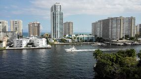 Canali navigabili del nord di Miami Immagini Stock Libere da Diritti