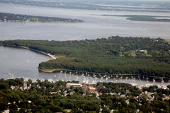 Canali navigabili del Rhode Island Fotografia Stock Libera da Diritti