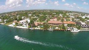 Canali navigabili di Florida del sud video d archivio