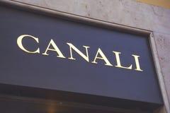 Canali tecken för lager Royaltyfria Bilder