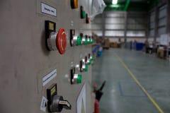 Canalisation bouton d'arrêt d'urgence Photos stock