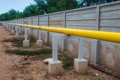 Canalisation de construction sur l'appui Images stock