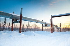 Canalisation de transport Alaska Photo stock