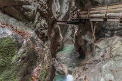 Canalisation en Autriche - Zell AM voient photo libre de droits