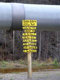 Canalisation et signe du Transport-Alaska Image stock