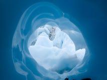 Canalisation glaciaire Alaska Photos libres de droits