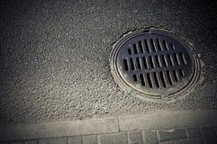 Canalisation hole Stock Photography