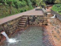 Canalisation minérale de ressort au sao Miguel Island Images libres de droits