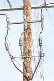 Canalisation verticale triphasée d'Undergound de distribution Photo libre de droits