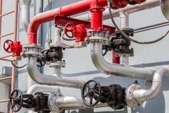 Canalisations et valves en acier Image libre de droits