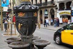 Canalitesfontein op Ramblas, Barcelona royalty-vrije stock afbeeldingen
