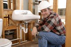 Canalizador da construção Imagem de Stock Royalty Free