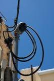Canalização da linha eléctrica Foto de Stock