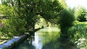 Canalization реки Llobregat в Gironella стоковые фотографии rf