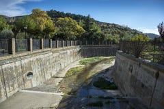 Canalization реки Riguel Стоковое Изображение