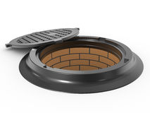 Canalization manhole Royalty Free Stock Image