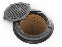 Canalization manhole Stock Photography