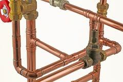 Canalizzazione dell'impianto idraulico Immagini Stock