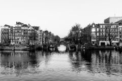 Canals of Amsterdam stock image