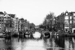 Canals of Amsterdam stock images