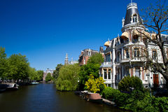 Canals in Amsterdam Stock Images