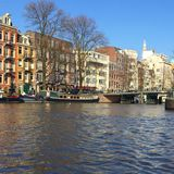 Canals of. Amsterdam and canals Stock Photography