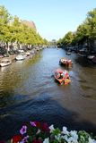 Canals of Amsterdam Stock Photography