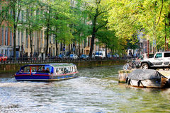 Canals in Amsterdam Royalty Free Stock Image