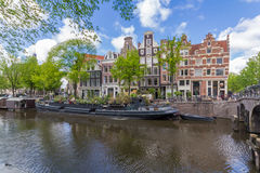 Canals of Amsterdam capital city of the Netherlands royalty free stock photo