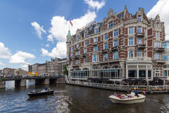 Canals of Amsterdam, capital city of the Netherlands stock photos