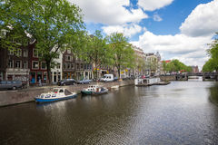 Canals of Amsterdam, capital city of the Netherlands royalty free stock images