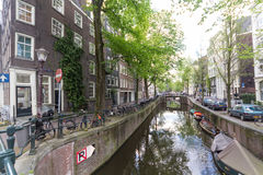 Canals of Amsterdam, capital city of the Netherlands stock photo