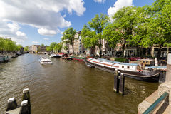 Canals of Amsterdam, capital city of the Netherlands royalty free stock photography