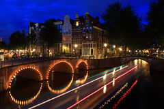 Canals, Amsterdam Royalty Free Stock Photos