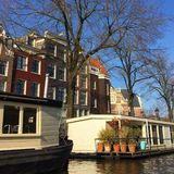Canals in Amsterdam Royalty Free Stock Photos
