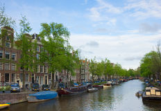 Canals of Amsterdam, Netherlands Stock Photography