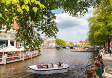 Canals of Amsterdam. Stock Photos