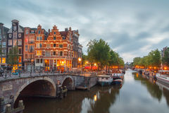 Canals of Amsterdam. Royalty Free Stock Photography