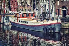 Canals of Amsterdam, Netherlands Stock Photos