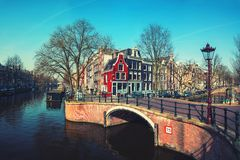 Canals of Amsterdam, Netherlands Royalty Free Stock Photography