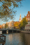 Canals in Amsterdam  Netherlands Royalty Free Stock Photos