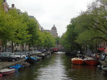 Canals of Amsterdam. This nice view is from Amsterdam canals royalty free stock image