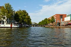 Canals and boats of Amsterdam royalty free stock image