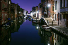 Canals and boats in Cannaregio, Venice Royalty Free Stock Photo