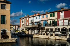 Canals and boats of Port Grimaud village