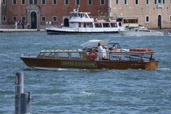 Private Boat in Venice, Italy stock photo
