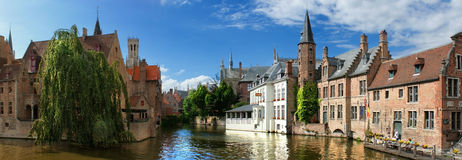 Canals in Bruges Royalty Free Stock Images
