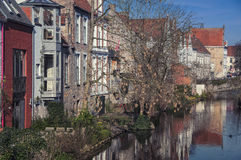 Canals of Bruges Stock Photography
